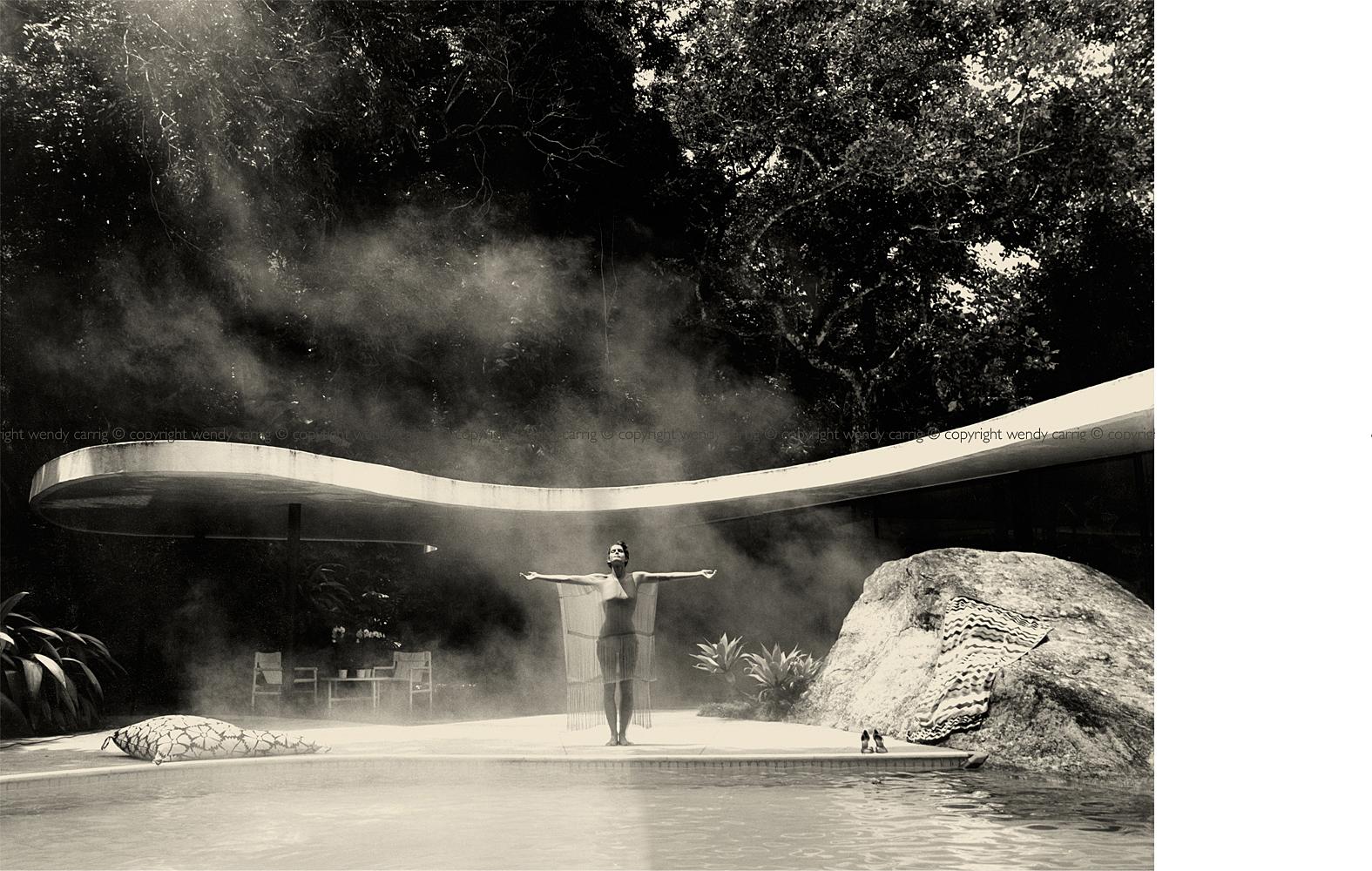 brenda costa model, oscar niemeyer house, rio de janeiro, brazil, photography © copyright wendy carrig