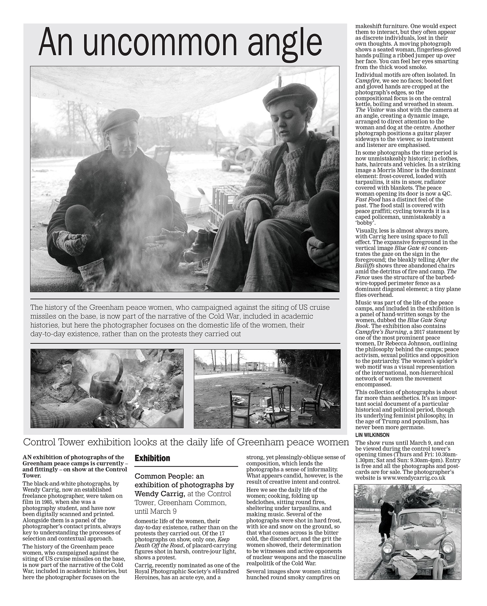 """An uncommon angle"" Newbury Weekly News"